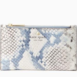 NWT~KATE SPADE~Hayes St. Snake-Emboss Mikey Wallet